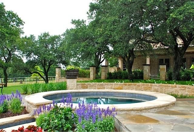 Traditional French Country Ranch traditional-pool