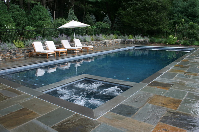 Natural Stone Pool Deck Fair Natural Stone Pool Deck  Houzz