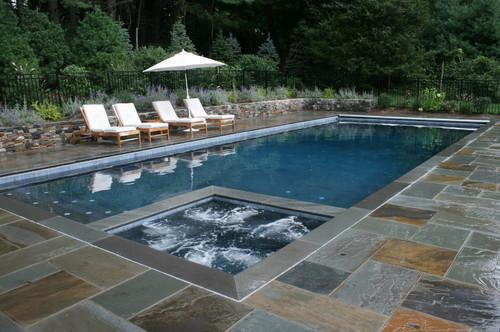 Traditional traditional pool