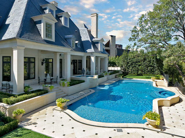 Private swimming pools traditional pool dallas by for Houzz landscape architects