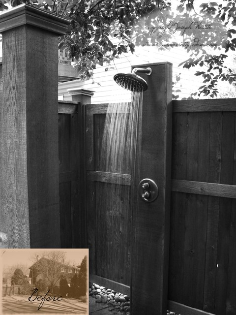 Outdoor Shower Traditional Pool New York By