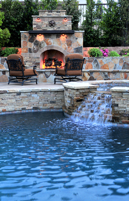 Traditional Pool with Fireplace traditional pool