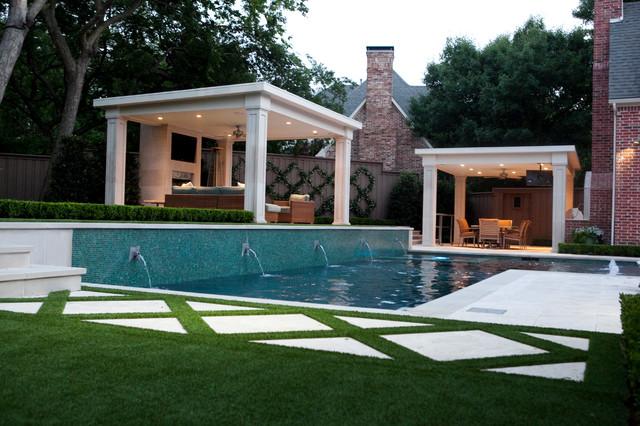Transitional Entertaining Garden transitional-pool