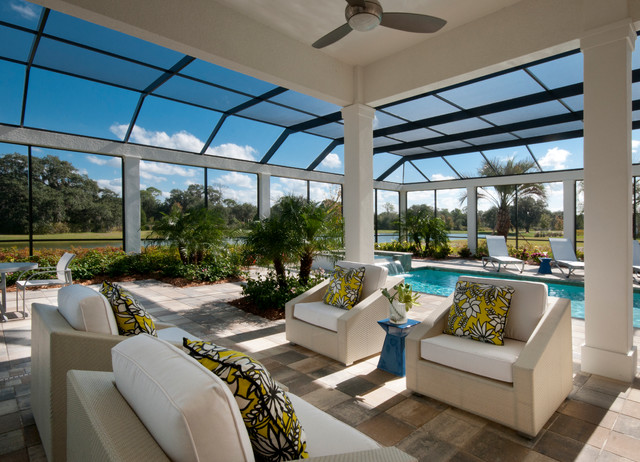 The Isabella Outdoor Living contemporary-pool