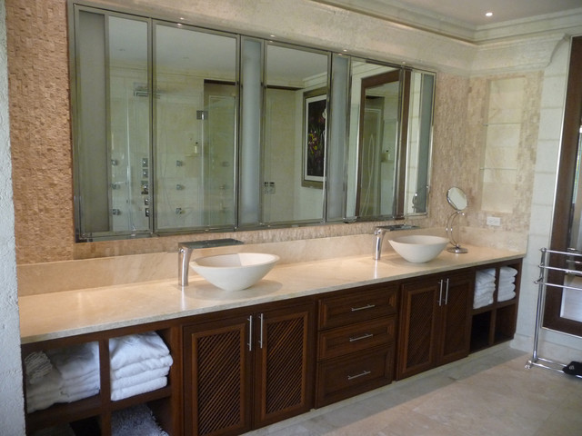 Travertine Bathroom Contemporary Bathroom Other