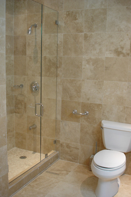 Travertine small bathroom 28 images classic travertine for Travertine tile bathroom gallery