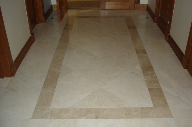travertine foyer modern other metro by stonemar