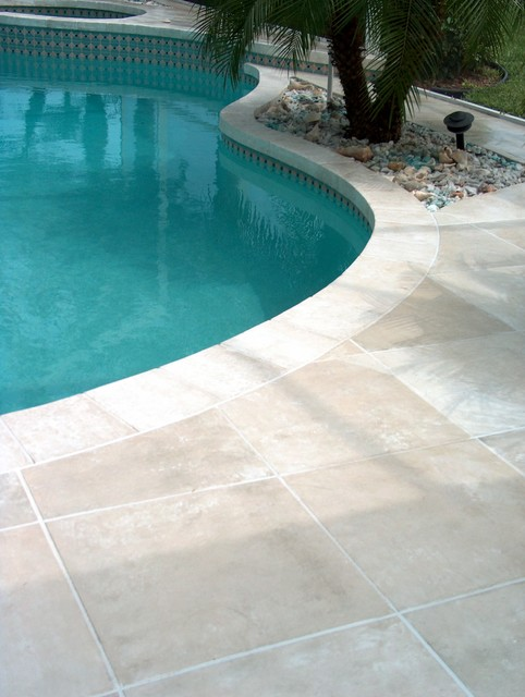 Travertine Pool Deck Melbourne Tropical Orlando