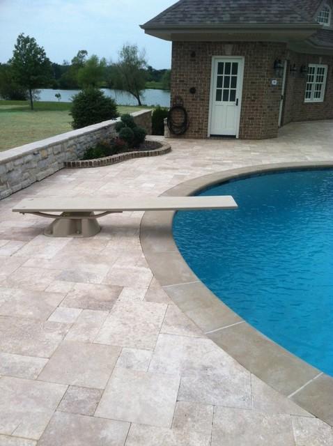 Travertine Pool Deck Mediterranean Pool Cincinnati