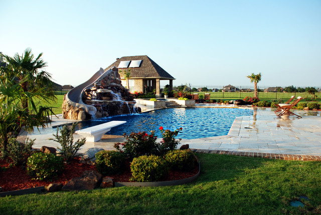 Travertine Pool eclectic-pool