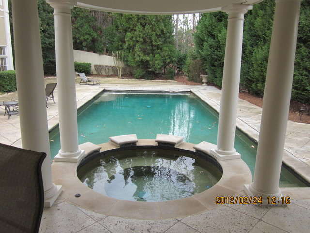 Travertine Transformations traditional-pool