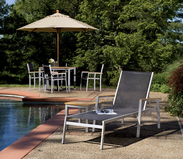 Travira Chaise Lounge contemporary-outdoor-chaise-lounges