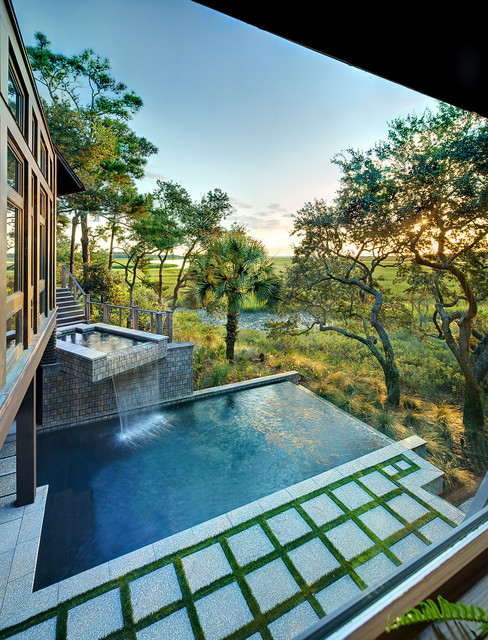 Tree house kiawah island contemporary pool for Pool designs under 30000