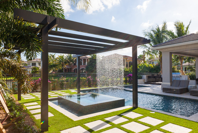 trellis pergolas contemporary pool miami by coastal screen and rail. Black Bedroom Furniture Sets. Home Design Ideas