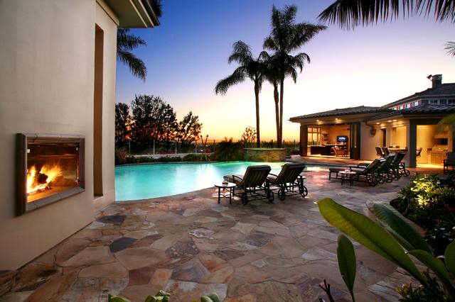 Troon Pool Deck Pool House Tropical Pool Orange