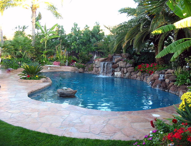 Tropical landscape tropical pool other by paradise for Pool design hawaii