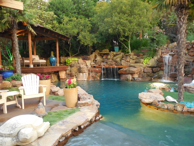 Tropical oasis as seen on animal planet the pool master for Pool show dallas