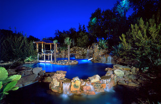 Tropical Tropical Pool Dallas By Pool Environments