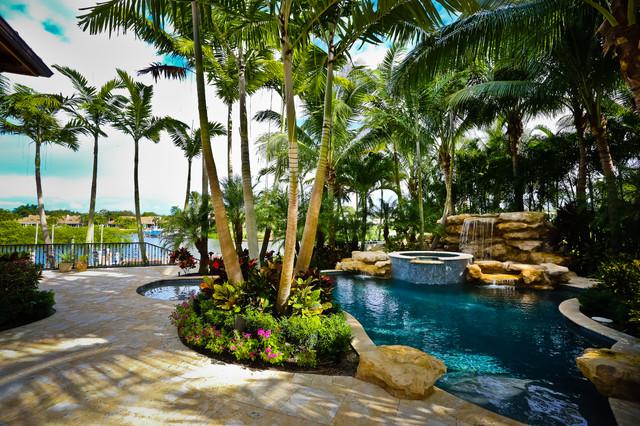 Tropical Pool View 3 Jupiter Florida Tropical Pool Miami By Tony Grimaldi Landscape