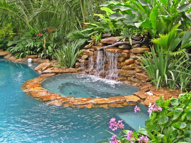 Tropical pool for Tropical pool gardens