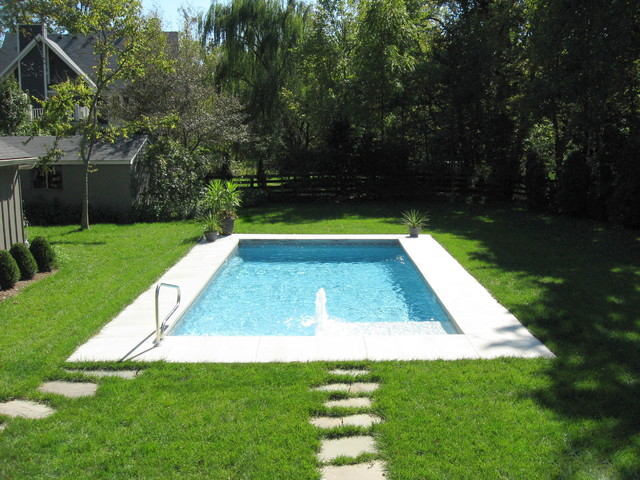 true rectangle vinyl liner pool traditional pool - Rectangle Pool