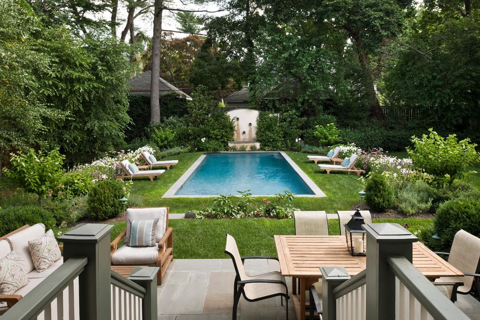 Pool - traditional stone pool idea in Philadelphia