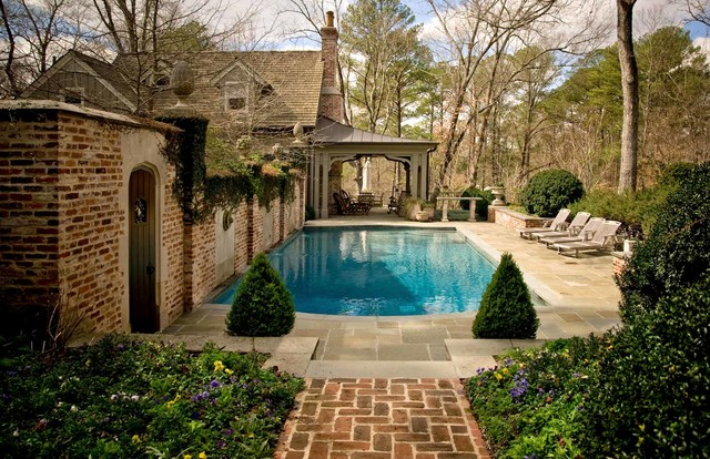 Tudor revival traditional pool nashville by page duke