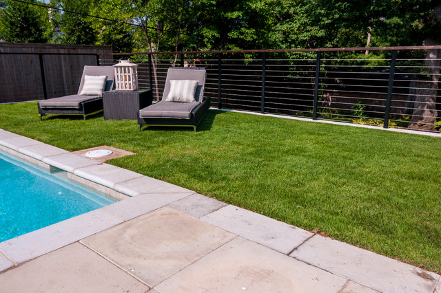 Tulsa midtown hamptons style renovation contemporary for Pool design hamptons