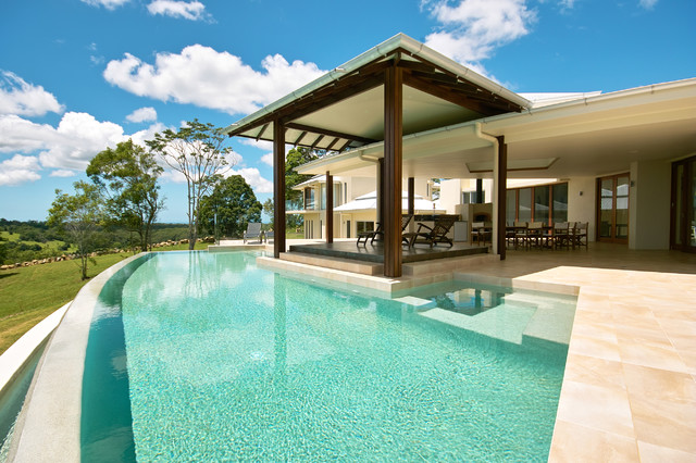 Tunba house tropical pool brisbane by skale for Pool design queensland