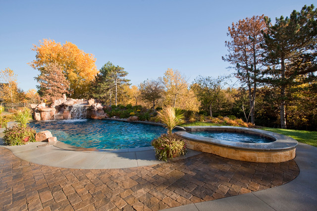 Tuscan inspired residence mediterranean pool omaha for Pool design omaha