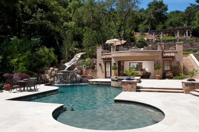 Tuscan Paradise Mediterranean Pool San Francisco