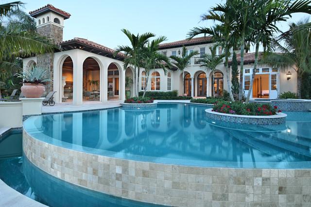 Tuscan Style Home Mediterranean Pool Miami By John