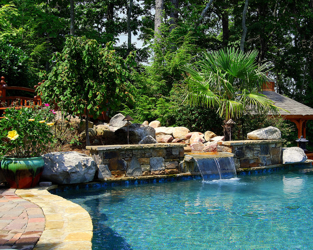 ultimate backyard experience traditional pool atlanta by