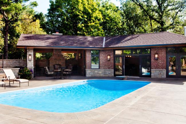 Upscale Masculine Poolhouse
