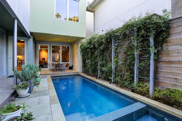 Industrial modern house houston tx modern pool for Modern house houston