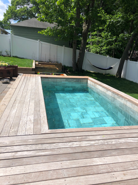 Urban Small Backyard Makeover With Plunge Pool Contemporary Swimming Pool Hot Tub Boston By Soake Pools Houzz Uk