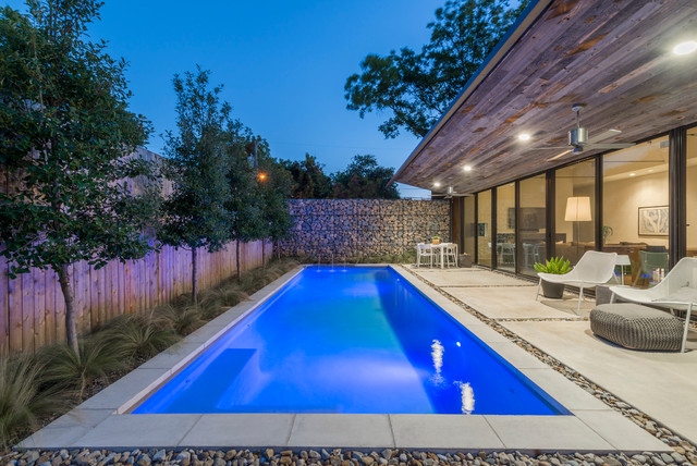 Vanderbilt House Contemporary Swimming Pool Hot Tub Dallas By Wade Griffith Photography