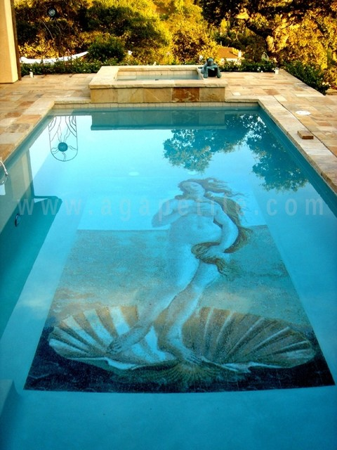 Venus By Botticelli Custom Glass Mosaic Swimming Pool