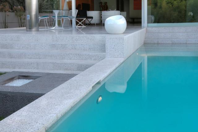 Verona Terrazzo Modern Pool Los Angeles By Soli