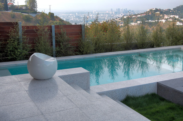 Verona Terrazzo - Modern - Swimming Pool & Hot Tub - Los Angeles ...