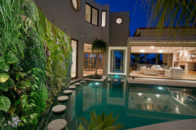 vertical gardening systems modern pool other metro