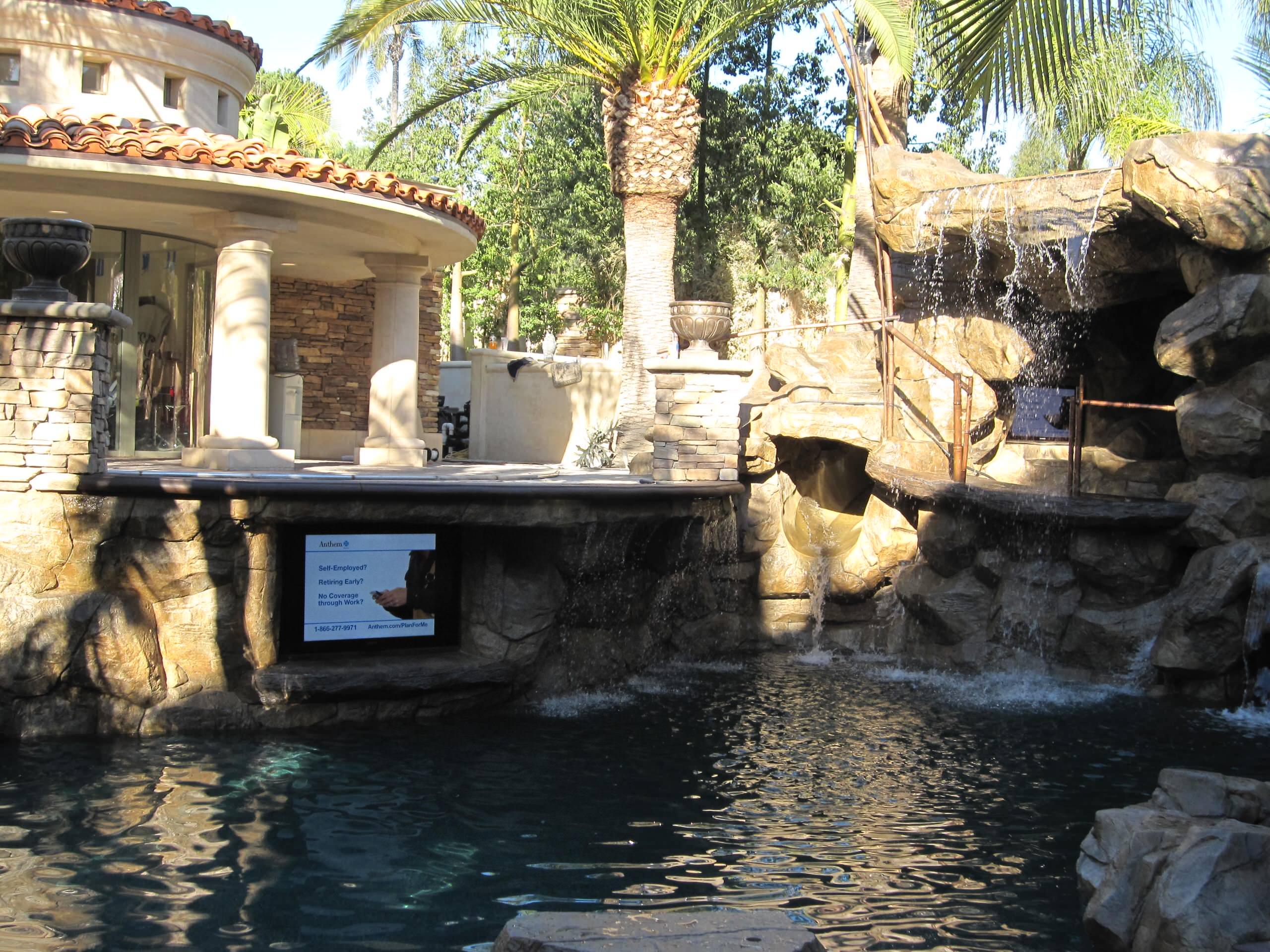 Villa park rock pool