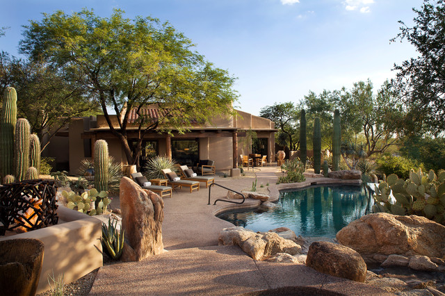 Desert Landscape Design Ideas image of desert landscape front yard Southwest Infinity Pool Photo In Phoenix