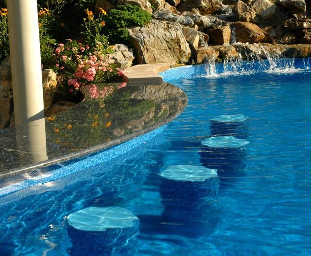 Ordinary Walk In Swimming Pool Designs 3 Tropical