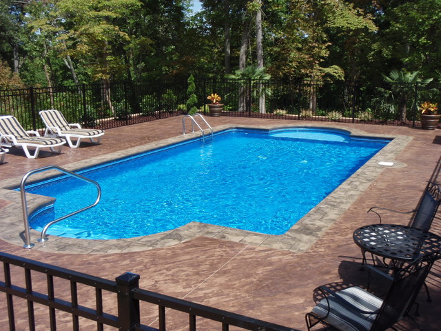 vinyl pools traditional pool charlotte by