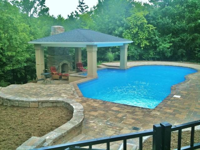 Vinyl pools traditional pool charlotte by for Pool design houzz