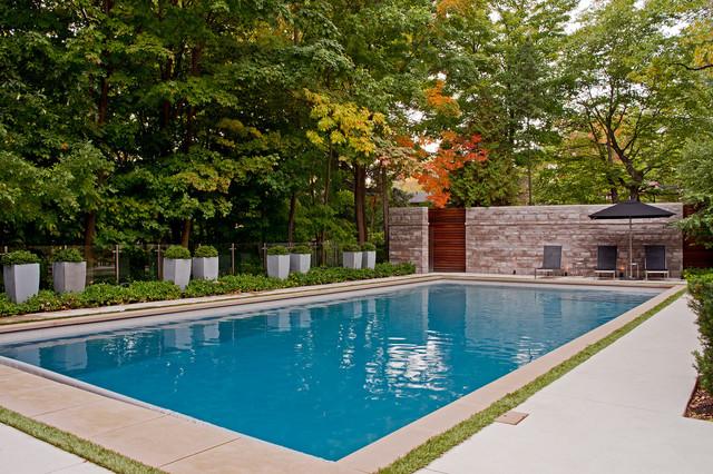 W Landscape contemporary-pool