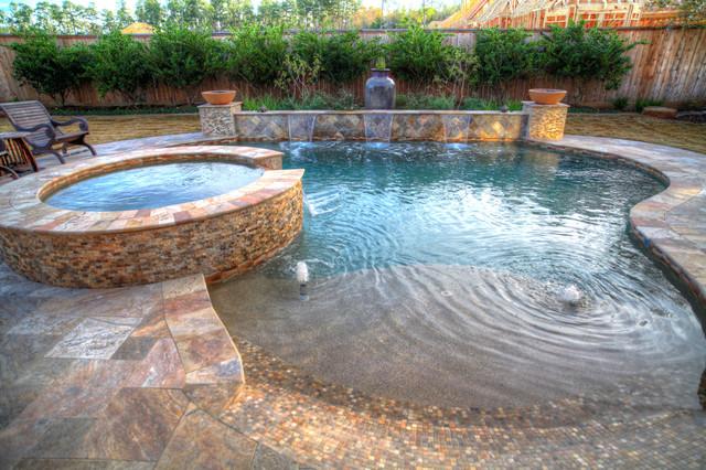 High Quality Walk In Pool Mediterranean Swimming Pool And Hot Tub