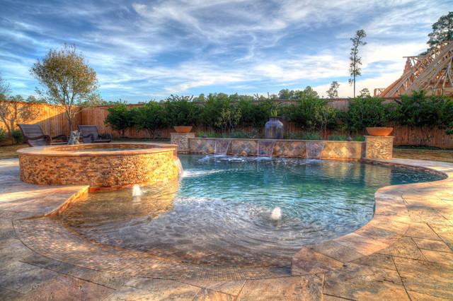 Walk In Pool Mediterranean Swimming Hot Tub