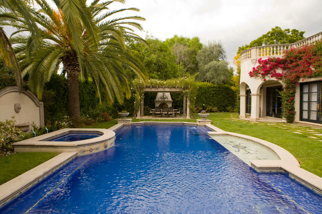 Wallace neff villa mediterranean pool los angeles for Villa landscape plan